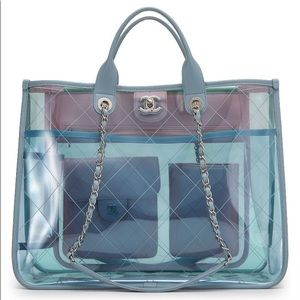 CHANEL Coco Splash Large Quilted Multicolor Tote
